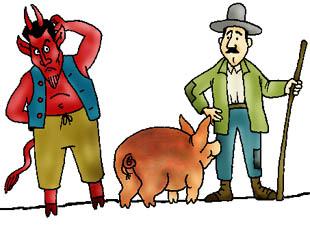 Az ördög meg a kanász (magyar népmese)