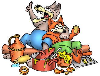 A róka meg a farkas a lakodalomban (népmese)